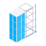 Building construction icon, isometric 3d style royalty free illustration