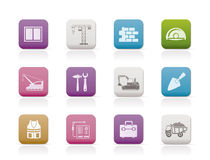 Building and construction icons 1 Royalty Free Stock Images
