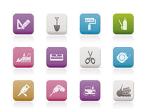 Building and construction icons 2 Royalty Free Stock Image