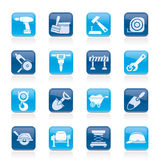 Building and construction icons Royalty Free Stock Photography