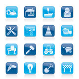Building and construction icons Royalty Free Stock Images