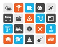 Building and Construction icons. Vector icon set royalty free illustration