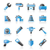 Building and construction icons Royalty Free Stock Photos