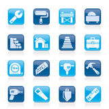 Building and construction icons Stock Photo