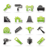 Building and construction icons Stock Photos
