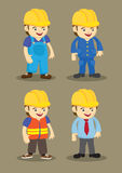 Building and Construction industry Vector Cartoon Characters Stock Photo