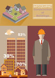 Building Construction Infographics Royalty Free Stock Images
