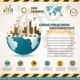 Building and construction infographics Royalty Free Stock Image