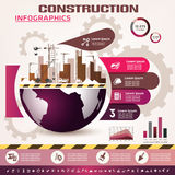Building and construction infographics Stock Image
