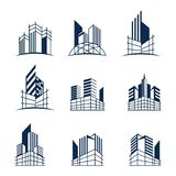 Building construction logo bundle vector illustration