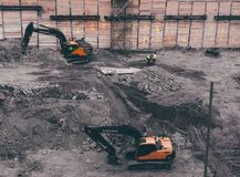Building construction machines royalty free stock images