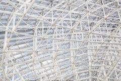 Building construction, metal steel framework Stock Image