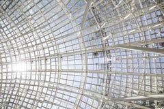 Building construction, metal steel framework Stock Images