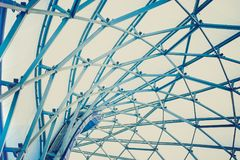 Building construction of metal steel framework outdoors stock photography