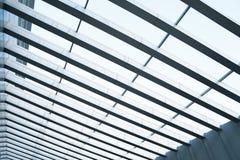 Building construction of metal steel framework stock photo