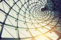 Building construction of metal steel framework outdoors. With sunlight stock photos