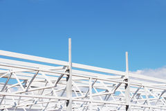Building construction, modern design. New style high-tech - iron structure stock photography