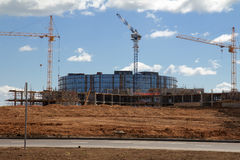 Building construction in modern It-village in Kazan district - I Stock Images