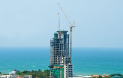 Building construction near sea Royalty Free Stock Photo
