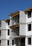 Building construction. New building construction white wall Royalty Free Stock Photos