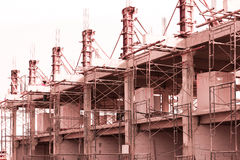 Building construction_. Patter of concrete building construction works Royalty Free Stock Images