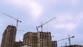 Building construction process stock footage
