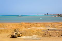 Building construction at the Red Sea. In Egypt Royalty Free Stock Photo