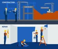Building construction repair flat horizontal Royalty Free Stock Photos