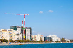 Building construction at seashore Royalty Free Stock Photos