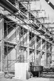 Building construction_1. Shade and shadow in concrete building construction works Stock Photography
