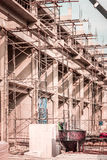Building construction_2. Shade and shadow in concrete building construction works Royalty Free Stock Photo