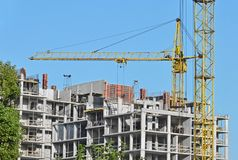 Building construction site Royalty Free Stock Photography