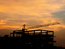 The building construction site Royalty Free Stock Images