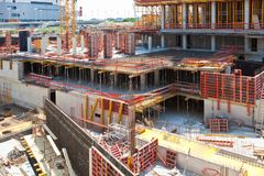 Building Construction Site Royalty Free Stock Photos