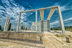 Building construction site Stock Images