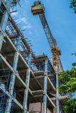 Building construction site and crane Royalty Free Stock Photo