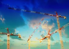Building construction Site with crane Royalty Free Stock Photos