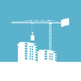 Building construction site and crane Royalty Free Stock Photography