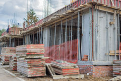 Building construction site with formwork elements 2 Stock Photography