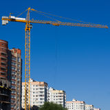 The building construction site Royalty Free Stock Photo