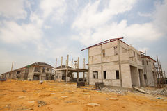 Building & Construction Site  new house Stock Photo