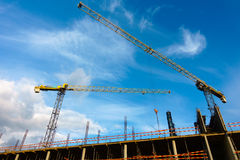 Building construction site at sunny day Royalty Free Stock Photos