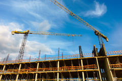 Building construction site at sunny day Stock Photo