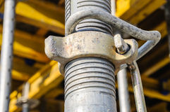 Building construction site support pipe detail Stock Images