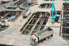 Building construction Site at Thailand Stock Image