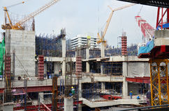 Building construction Site at Thailand Stock Photography