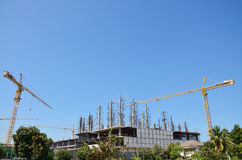 Building construction Site at Thailand Royalty Free Stock Photo