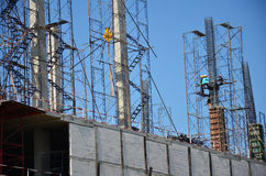 Building construction Site at Thailand Royalty Free Stock Photography