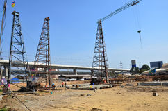 Building construction Site at Thailand Royalty Free Stock Photos
