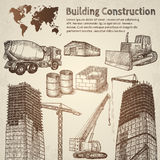Building construction sketch. Royalty Free Stock Photography